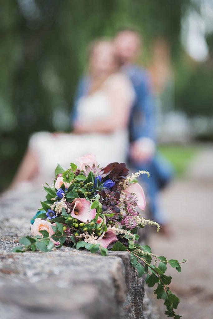 Brudebuket bryllupsfotograf